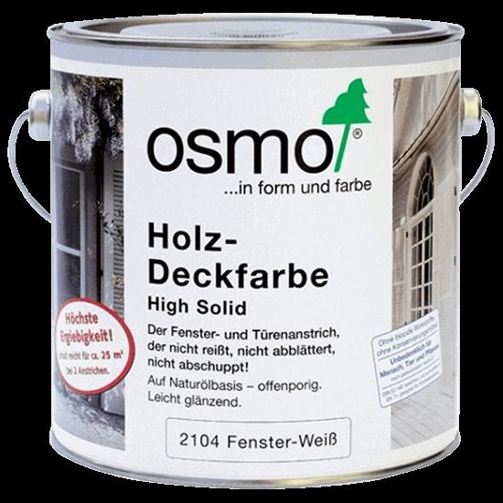 Белая краска для дверей и окон из дерева OSMO Holz-Deckfarbe - 2104 Белая